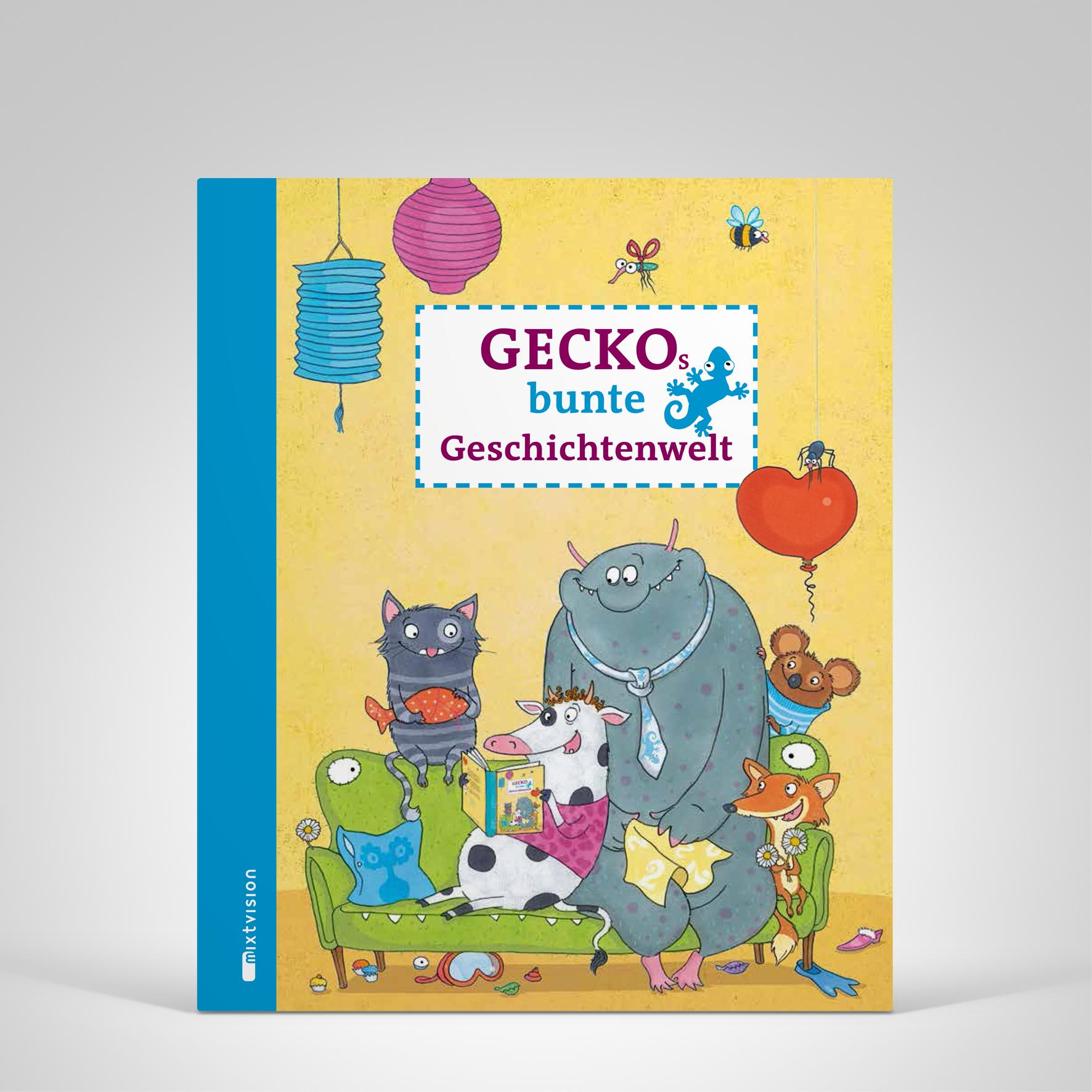 Geckos bunte Geschichtenwelt, Cover-Abbildung