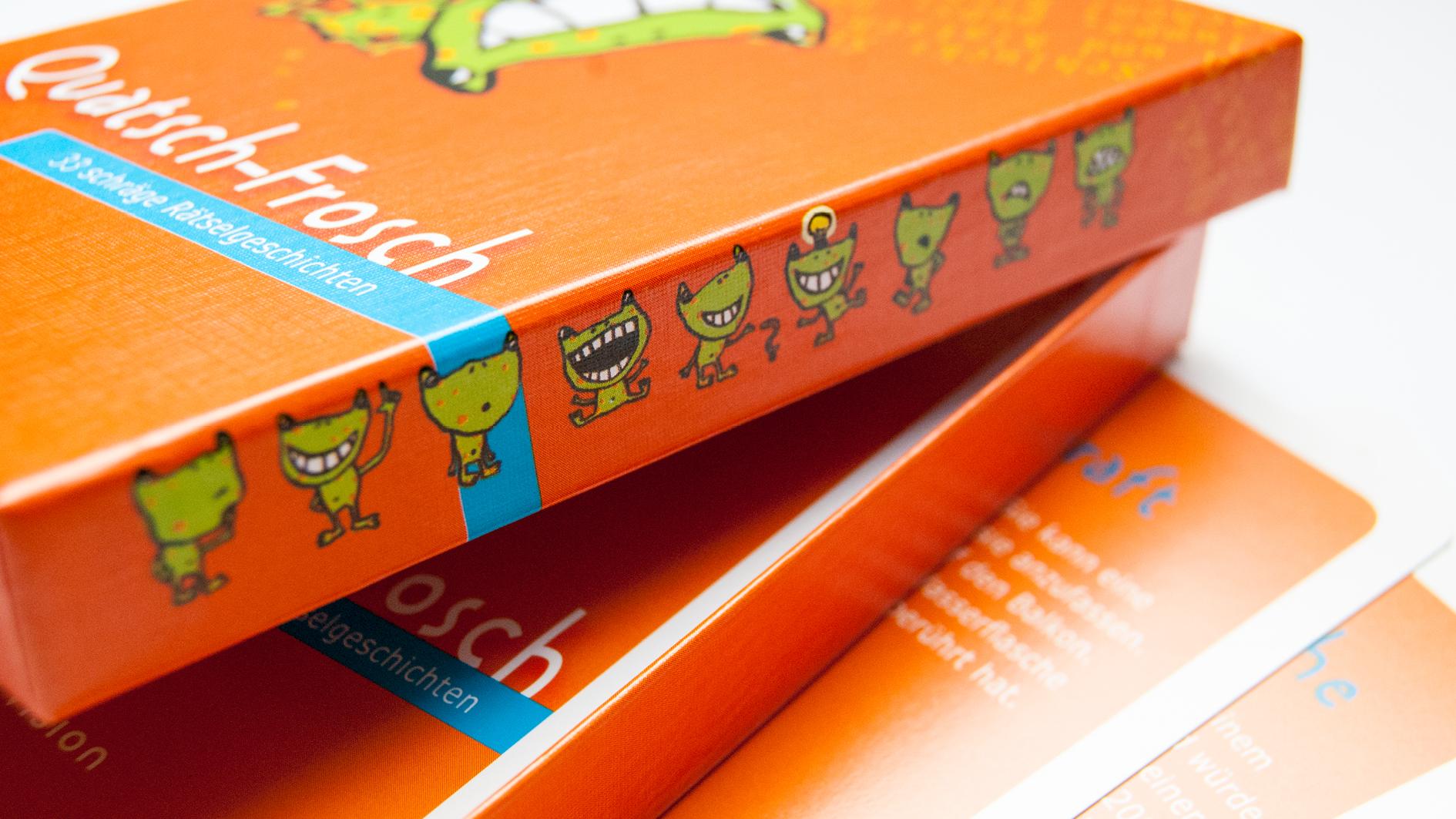 Quatsch-Frosch (orange), Headerbild