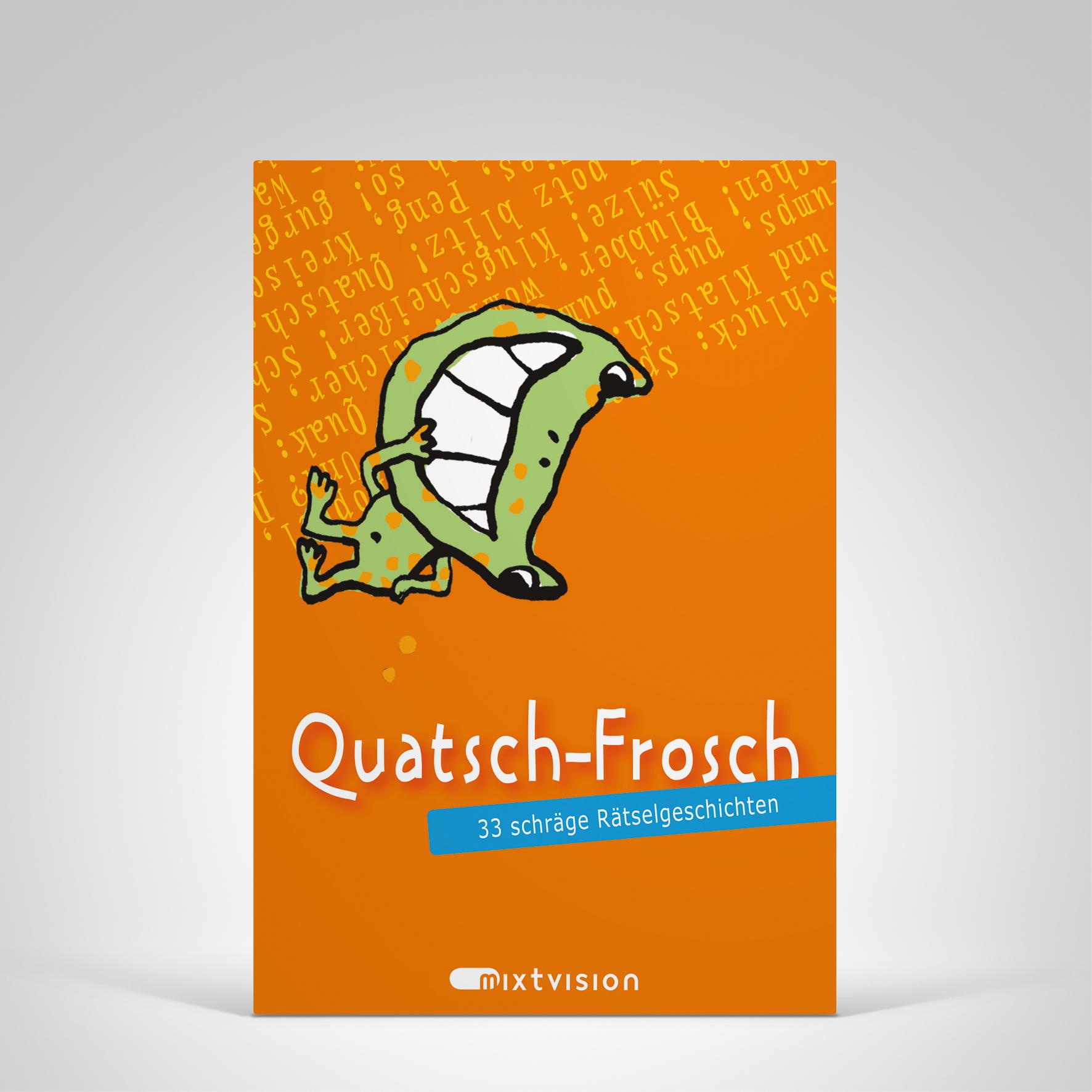 Quatsch-Frosch (orange), Cover-Abbildung
