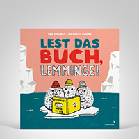 Lest das Buch, Lemminge!, Coverbild