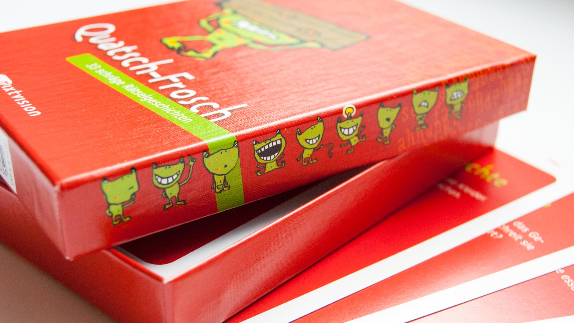 Quatsch-Frosch (rot), Headerbild