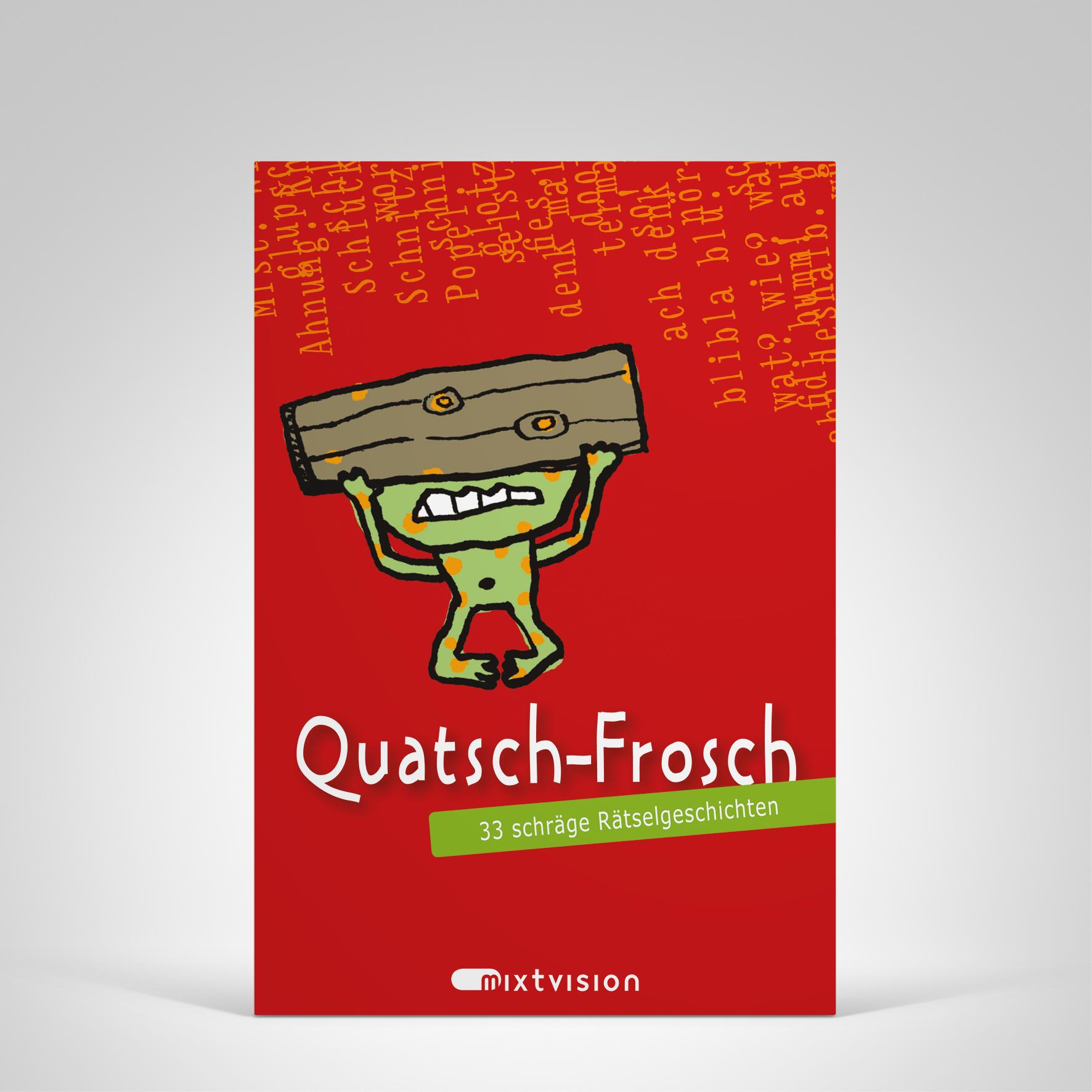 Quatsch-Frosch (rot), Cover-Abbildung