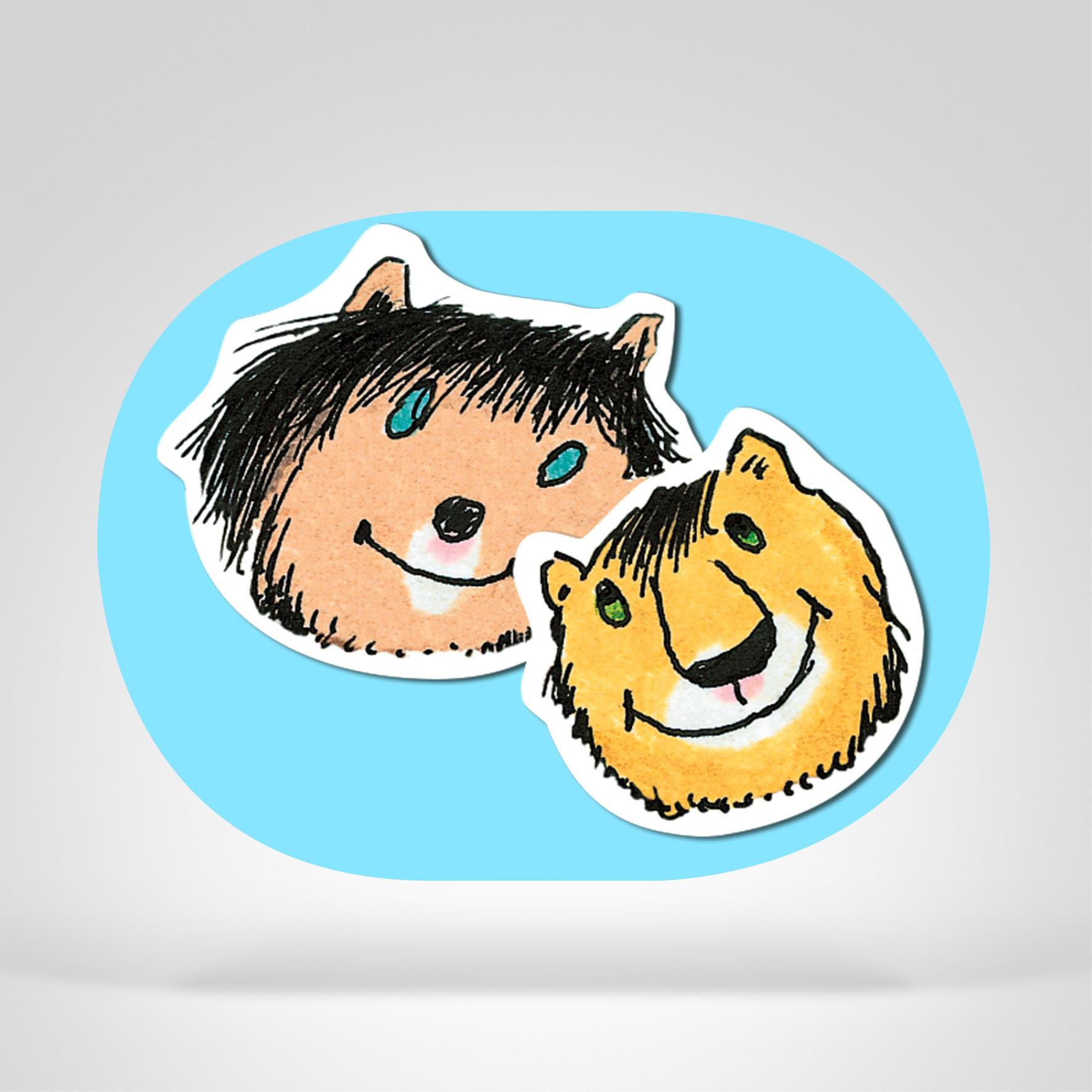 Janosch Stickerpack, Icon-Abbildung
