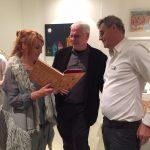 Alexandra Helmig, Quint Buchholz und Sebastian Zembol nach der Buchpremiere.
